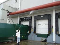Pressure Washing Loading Dock