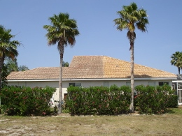 Sarasota tile roof cleaning home.